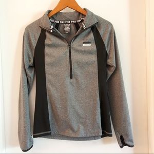 PINK Ultimate Sweatshirt Gray Black Small